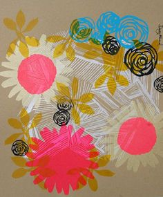 Screen Printed Art and Cards by Dewey Howard via Oh So Beautiful Paper (8)