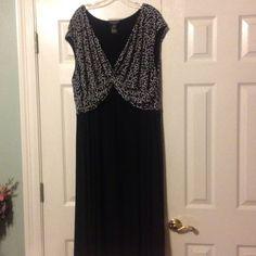 Black Dress With White Design