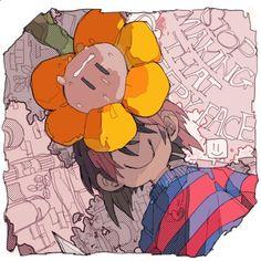 Frisk and Flowey Flowey Undertale, Undertale Comic Funny, Undertale Fanart, Frisk, Blood Wallpaper, Flowey The Flower, Satsuriku No Tenshi, Toby Fox, Rpg Horror Games