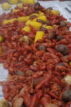 I miss crawfish boils sooo bad, y'all! I need to make a crawfish run this year, I think it's worth the hour drive to Mississippi! Louisiana Recipes, Cajun Recipes, Southern Recipes, Seafood Recipes, Cooking Recipes, Crawfish Recipes, Seafood Dishes, Fish And Seafood, Seafood Boil