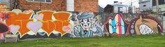 Graffitis en la Cra 30   Fotos: Mauricio Leon