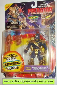Kenner ALIENS vs PREDATOR action figures for sale to buy 1996 kaybee toys exclusive, Electronic LASERSHOT PREDATOR New - Still Factory Sealed in the original package Condition: Overall a great display