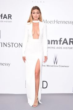 Gigi Hadid in Tom Ford bei der amfAR Gala in Cannes