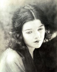 A striking portrait of Myrna Loy, aged fifteen, 1920  Scanned from: Myrna Loy: Being and Becoming:  Love -Myrna Loy
