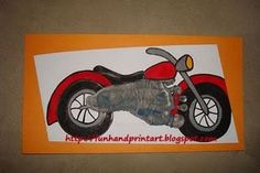 This Footprint Motorcycle Keepsake is easier to create than it looks. First, start with a gray footprint. When it dries paint or use markers to draw in the black tires. Once you have the tires in place, add in the red parts you see (in color of choice). Then, draw/paint in the black seat. Using …