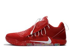 3b3f59895948 Nike Kobe AD NXT ID 882049 ID004 Chaussures Baskets Nike Pas Cher Pour  Homme Rouge Blanc -