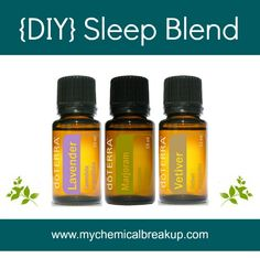 DIY Essential Oil Sleep Blend: wonderful to shut down your brain to bring more restful sleep!!!