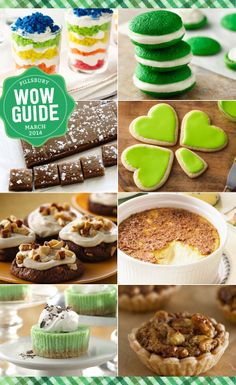 8 St. Patrick's Desserts that are easy and festive - thanks to our March Wow Guide!
