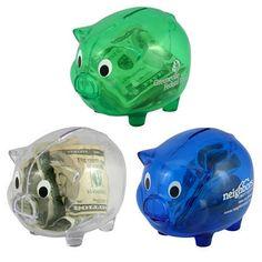 Promotional Plastic Piggy Bank #banks #advertising | Customized Coin Banks | Promotional Coin Banks