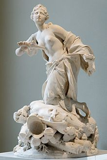 The suicide of Queen Dido (book 4), sculpture by Augustin Cayot (1667-1772)