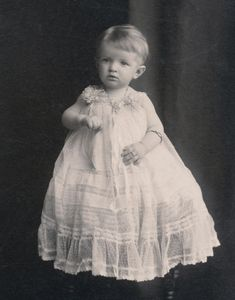 Lacy White Dress on Beautiful Baby, Victorian or Edwardian Antique Photo