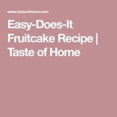 Easy-Does-It Fruitcake Recipe | Taste of Home