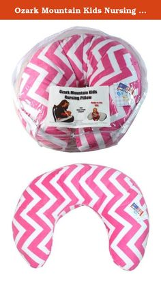 Ozark Mountain Kids Nursing Pillow - 100% Cotton Chenille - Multipurpose, Machine Washable - Hot Pink Chevron. The Ozark Mountain Kids Nursing Pillow provides comfort to you and your newborn and helps you ergonomically position your baby during nursing. It can also be used to prop your baby up after feedings, as a tummy time aid when your infant grows older, and to support your child when learning to sit. Designed to accommodates all waist sizes with wrap around support, this adorable…