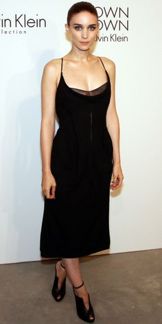 Rooney Mara in all black Calvin Klein collection at the Calvin Klein after-party in New York during fashion week, 15 September 2013, (InStyle Look of the Day).