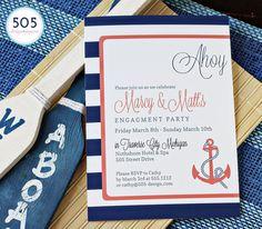 Nautical Invitation Design by 505 Design