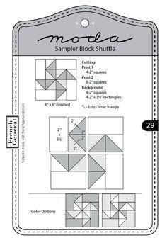 Moda Sampler Block Shuffle - Block 29