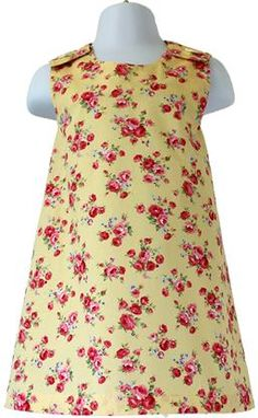 Pretty Pinafore Dress by Little Miss P. Available in ages 1-5 years in a variety of different prints.