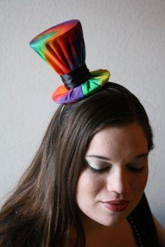 Tye-Dye mini top hat.