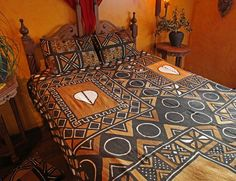 ... from Burkina Faso, using bogolan also know as mud cloth technique