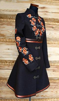 Inspired by Polish Folk Costume Folk Fashion, Ethnic Fashion, Womens Fashion, Petite Fashion, 80s Fashion, Grunge Fashion, Vintage Fashion, Embroidered Clothes, Mode Vintage