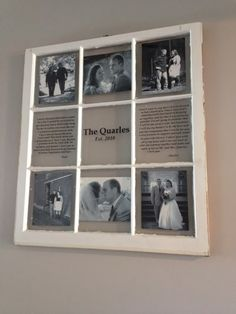 vintage window two pane family name personalized picture frames on etsy 7500 new house ideas pinterest shops vintage and vintage windows - Window Picture Frame