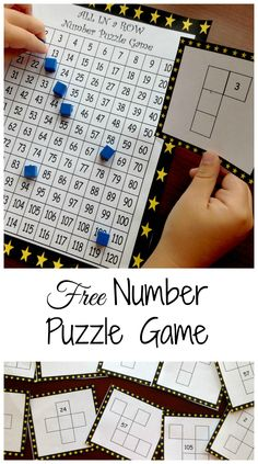 Fun Math Games With Number Puzzles to Develop Number Sense Need a game to familiarize students with a hundreds chart? Check out this game where children solve hundreds chart puzzles to win the game. There are also hundreds charts for the and the Number Puzzles, Math Numbers, Montessori Math, Homeschool Math, Homeschooling, Math Resources, Math Activities, Children Activities, Math Games For Kids