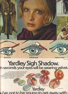 Vintage Yardley blue eye shadow ad from vintageadbrowser.com