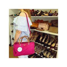 Bolsa #Gucci Bamboo pink linda esperando você aqui no nosso showroom!! 😍 Aberto…