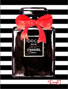 Chanel Noir Perfume Art Print by Del Art. All prints are professionally printed, packaged, and shipped within 3 - 4 business days. Art Chanel, Chanel Perfume, Chanel Wallpapers, Chanel Poster, Black And White Aesthetic, Coffee Poster, Fashion Wall Art, Bottle Painting, Printable Wall Art