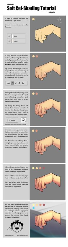 Manga Drawing Tips Soft cel-shading tutorial - Digital Art Tutorial, Digital Painting Tutorials, Art Tutorials, Digital Paintings, Drawing Tutorials, Art Reference Poses, Design Reference, Drawing Reference, Drawing Techniques