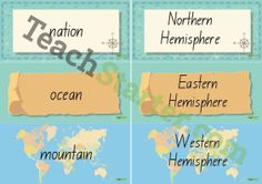 Geography Word Wall Vocabulary