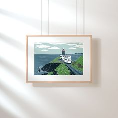 Original handmade print of Baily Lighthouse in Howth, County Dublin Overview: - Title: Baily Lighthouse - Giclee Print - All prints are signed and titled by me (artist) - Dimensions: and (with border) - Unframed Irish Landscape, House Gifts, All Print, Artwork Prints, Fine Art Paper, Dublin, Lighthouse, Giclee Print, Branding Design