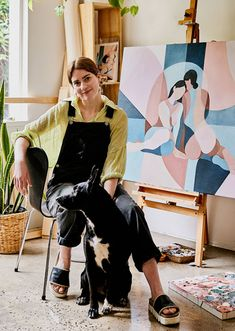 Artist Emma Currie shares her Thornbury home studio, and her process behind making her disticntive paintings that are both abstracted and figurative. Illustrations, Illustration Art, Portrait Art, Portraits, Family Painting, Artist Painting, Painting Styles, Art Hoe, The Design Files