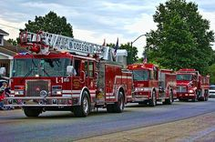 """The Odessa Missouri Fire Department perticipated in the annual """"Puddle Jumpers"""" parade in Oldessa, Missouri."""