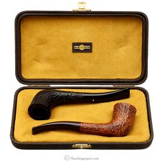 Dunhill County (3421) (2011) and Shell Ring Grain (3421) (2011) Set with Case Pipes at Smoking Pipes .com