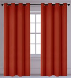 Light Reducing Insulating Luxura 2-Panel Grommet Curtain Set, 56x95 inch, Burnt Orange ** Tried it! Love it! Click the image. (This is an amazon affiliate link. I may earn commission from it)
