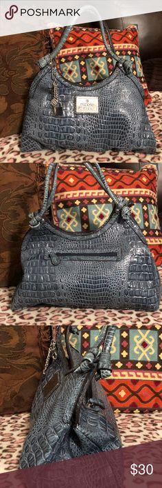 Purse Nicole Miller Purse like new, beautiful blue color, 14x10. Nicole Miller Bags Shoulder Bags