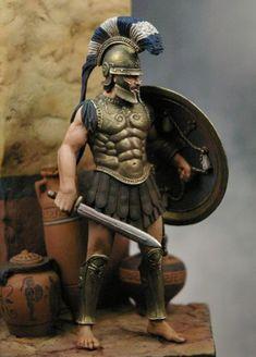 Wamp - Painting a 54mm Historical Figure - Greek Hoplite