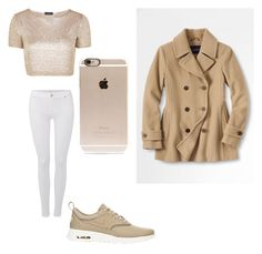 Shirin David Fall Look✨ by adijashbz on Polyvore featuring polyvore, fashion, style, Topshop, Lands' End, 7 For All Mankind, NIKE and Incase