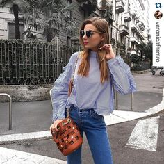 #Repost @veronicaferraro w ・・・ Sporting my @lacarriebag around Milan ❤️ #lacarriebag