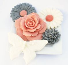 Autumn Soap Decorative Set Daisy Rose And Erfly Soaps Gift