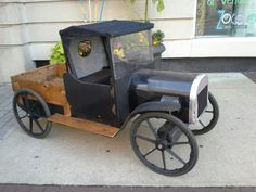 Model T soap box derby car for cub scout race. www.cubscoutderby.com