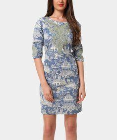 Look at this #zulilyfind! Blue Harriet Dress by Almatrichi #zulilyfinds