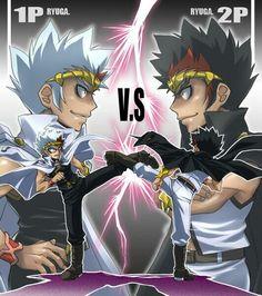 Ryuga vs dark ryuga. I love this pic !!