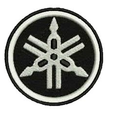 Yamaha Biker Black/White Embroidered Patch, $5.99. FREE SHIPPING!