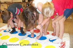 Ideas for teaching Spanish colors to elementary students.  Twister in Spanish!