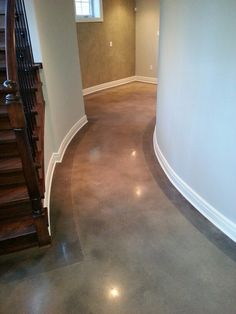 Acid Stained Polished Concrete by Mary Hansen kishpaugh Basement Flooring, Basement Remodeling, Flooring Ideas, Basement Ideas, Acid Stained Concrete Floors, Acid Concrete, Stain Concrete, Concrete Kitchen, Future House