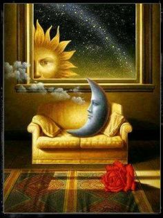 Stream For the Sun, the Moon & the Stars by The Emptiness from desktop or your mobile device Sun Moon Stars, Sun And Stars, Sky Moon, Illustrations, Illustration Art, Art Beat, Moon Pictures, Good Night Moon, Sun Art