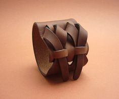 Brown Leather Cuff by Muse 2 inches Leather Art, Leather Gifts, Leather Tooling, Brown Leather, Diy Leather Bracelet, Leather Jewelry, Metal Jewelry, Bracelet Crafts, Jewelry Crafts