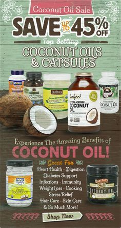Enjoy The Incredible Health & Nutritional Benefits Of Coconut Oil Today!